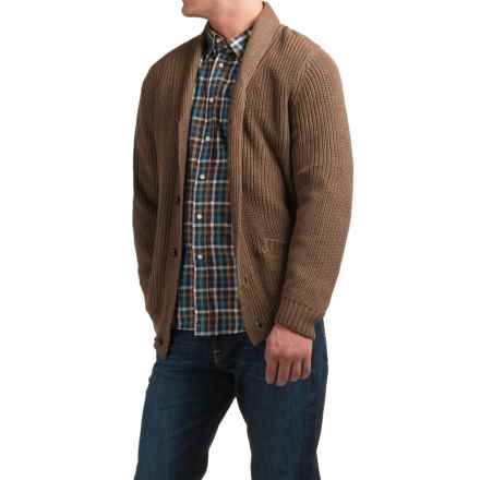 Tricots St. Raphael Shawl-Collar Cardigan Sweater (For Men) in Espresso Heather - Closeouts