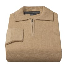 Tricots St. Raphael Williams Polo Shirt - Merino Wool, Zip Neck, Long Sleeve (For Men) in Tan - Closeouts