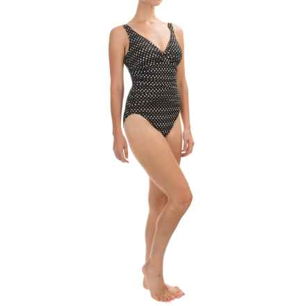 Trimshaper Asteria Spot On One-Piece Swimsuit (For Women) in Black - Closeouts