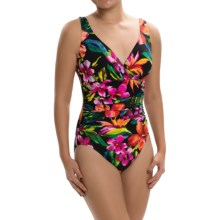 Trimshaper Asteria Swimsuit (For Women) in Birds Of Paradise Black - Closeouts