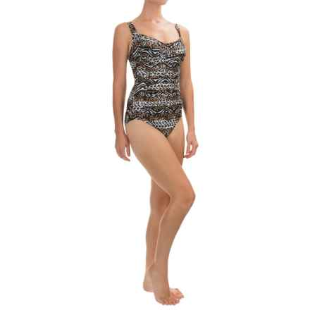 Trimshaper Averi Menagerie One-Piece Swimsuit (For Women) in Brown - Closeouts