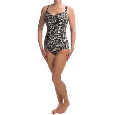 Trimshaper Averi One-Piece Swimsuit (For Women) in Black Print - Closeouts