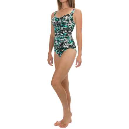 Trimshaper Averi Reflections 16 One-Piece Swimsuit (For Women) in Aqua - Closeouts