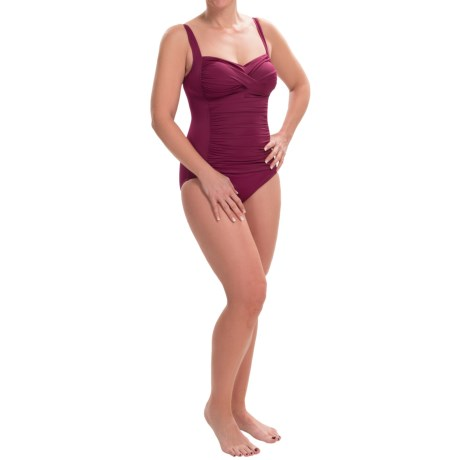 Trimshaper Averi Solid One Piece Swimsuit (For Women)