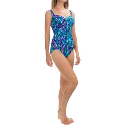 Trimshaper Averi Up & Down One-Piece Swimsuit (For Women) in Blue - Closeouts