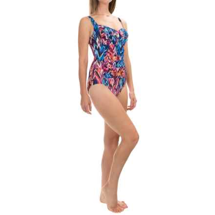 Trimshaper Averi Up & Down One-Piece Swimsuit (For Women) in Multi - Closeouts