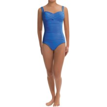 Trimshaper by Miraclesuit Averi One-Piece Swimsuit (For Women) in Copen Blue - Closeouts