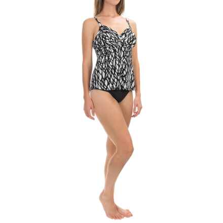 Trimshaper Cara Web Design Tankini Top (For Women) in Black/White - Closeouts