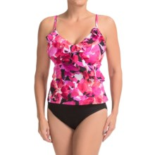 Trimshaper Garden Oasis Tankini Set (For Women) in Pink - Closeouts