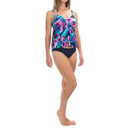 Trimshaper Rylee Botanical Bliss Tankini Top (For Women) in Purple - Closeouts