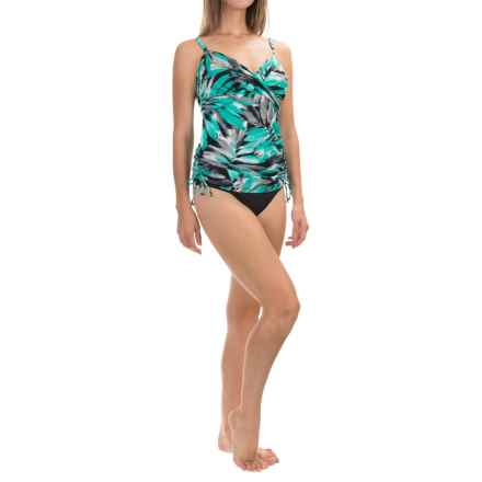 Trimshaper Wendy Palmetto Tankini Top (For Women) in Aqua - Closeouts