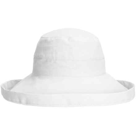 Tropical Trends Brimmed Hat - Cotton-Linen Canvas (For Women) in White - Closeouts