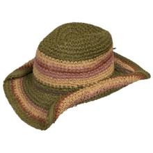 Tropical Trends Multi-Tone Western Beach Hat (For Women) in Brown - Closeouts