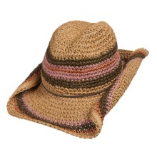 Tropical Trends Multi-Tone Western Beach Hat (For Women) in Camel - Closeouts