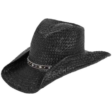Tropical Trends Toyo Western Hat (For Women) in Black - Overstock