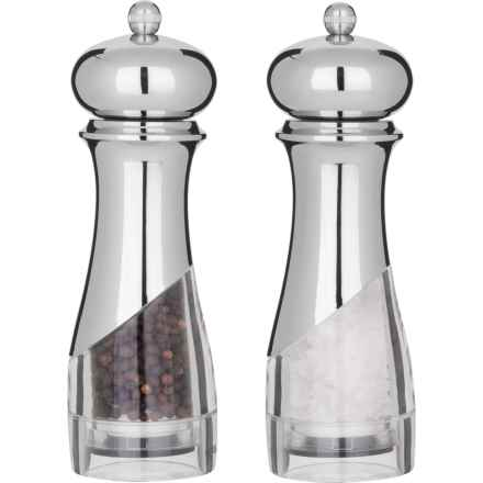 """Trudeau Alexa Salt and Pepper Mills - 7"""" in Stainless Steel/Clear - Overstock"""