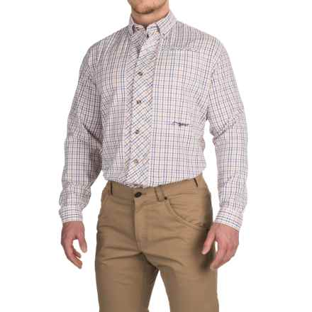 True Flies Bokeelia Check Seersucker Shirt - UPF 25+, Long Sleeve (For Men) in Hibiscus/Orchid - Closeouts