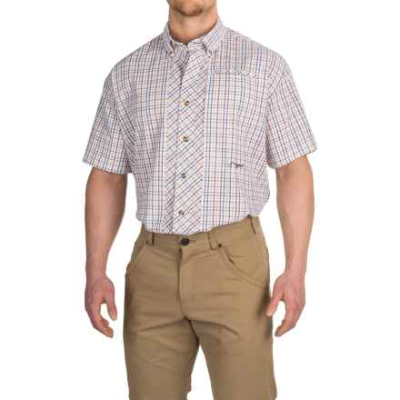 True Flies Bokeelia Check Seersucker Shirt - UPF 25+, Short Sleeve (For Men) in Hibiscus/Orchid - Closeouts