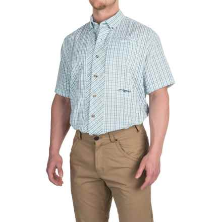 True Flies Bokeelia Check Seersucker Shirt - UPF 25+, Short Sleeve (For Men) in Seafoam - Closeouts