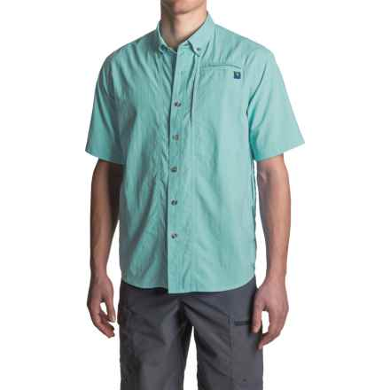 True Flies Bokeelia Nylon Shirt - UPF 30+, Short Sleeve (For Men) in Seafoam - Closeouts