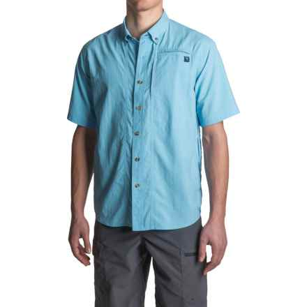 True Flies Bokeelia Nylon Shirt - UPF 30+, Short Sleeve (For Men) in Washed Sky - Closeouts