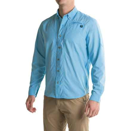 True Flies Bokeelia Shirt - UPF 30, Long Sleeve (For Men) in Washed Sky - Closeouts