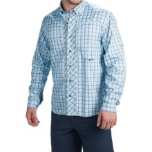 True Flies Bokeelia Tattersall Shirt - UPF 30, Long Sleeve (For Men) in Washed Sky/Seafoam - Closeouts