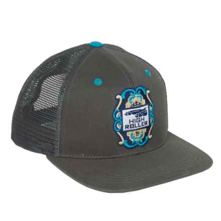 True Flies High Roller Trucker Hat (For Men) in Heron - Closeouts