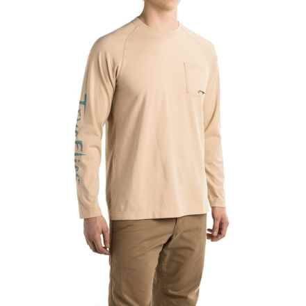 True Flies Tarpon Flow Chart Shirt - Long Sleeve (For Men) in Sand - Closeouts