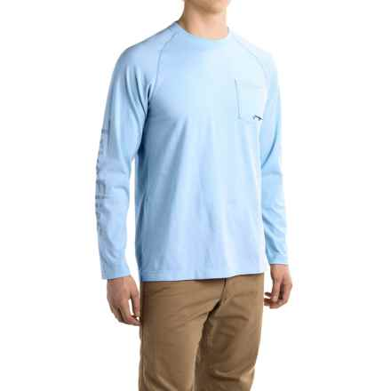 True Flies Tarpon Flow Chart Shirt - Long Sleeve (For Men) in Washed Sky - Closeouts