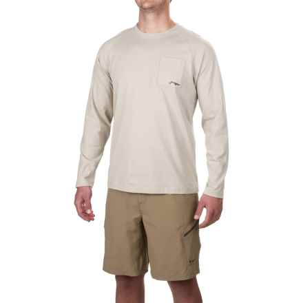True Flies The Red States 2 Shirt - Long Sleeve (For Men) in Salt - Closeouts