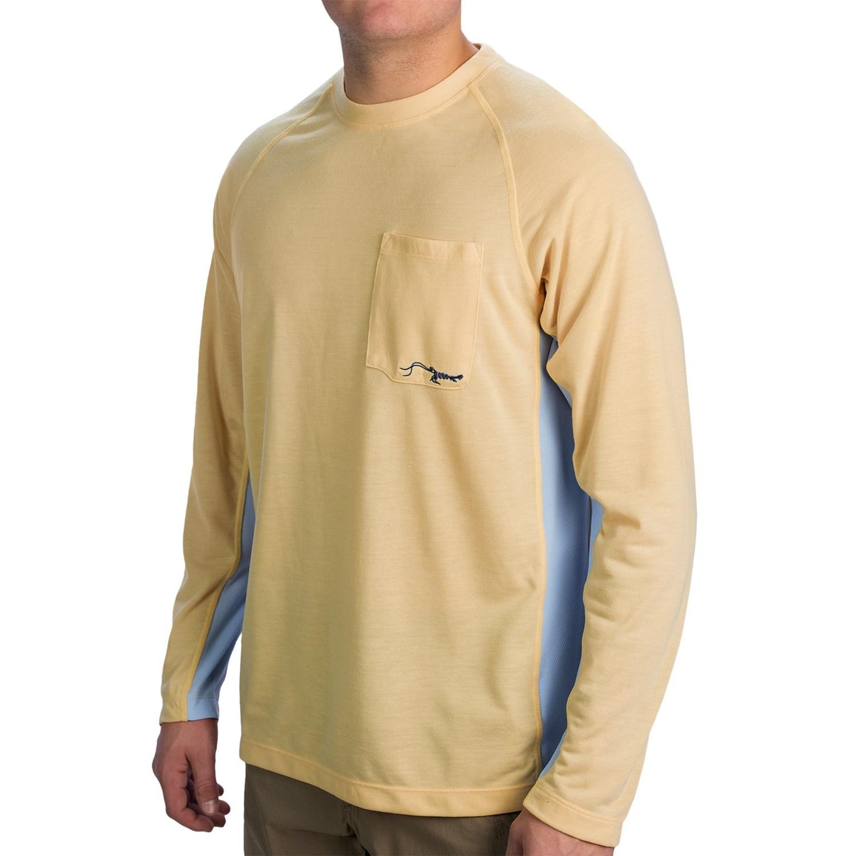 True flies turtle bay t shirt upf 30 long sleeve for for Men s upf long sleeve shirt