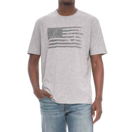 True Grit American Flag T-Shirt - Short Sleeve (For Men) in Light Heather Grey - Closeouts