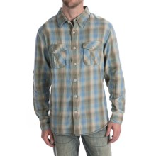 True Grit Baja Plaid Shirt - Long Sleeve (For Men) in Olive/Blue - Closeouts