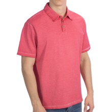 True Grit Baja Polo Shirt - Short Sleeve (For Men) in Vintage Red - Closeouts