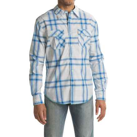 True Grit Beach House Plaid Shirt - Long Sleeve (For Men) in Ocean Sapphire - Closeouts