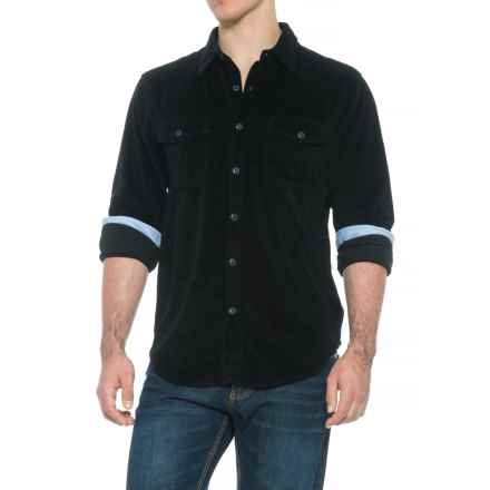 True Grit Best Stretch Corduroy Shirt - Long Sleeve (For Men) in Black - Overstock