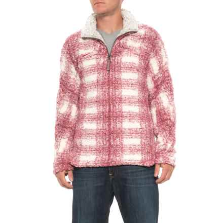 True Grit Big Plaid Frosty Tipped Shirt - Zip Neck, Long Sleeve (For Men) in Vintage Wine - Overstock