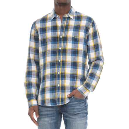 True Grit Big Plaids Shirt - Long Sleeve (For Men) in Denim - Closeouts