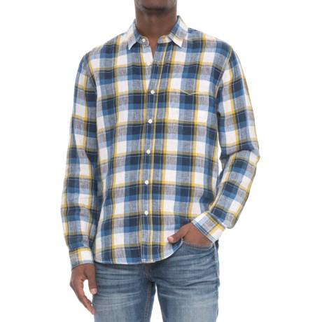True Grit Big Plaids Shirt - Long Sleeve (For Men) in Denim