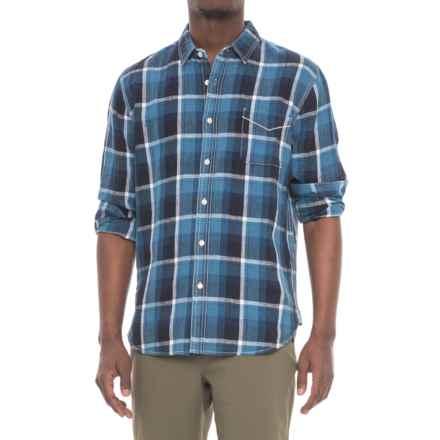 True Grit Big Plaids Shirt - Long Sleeve (For Men) in Indigo - Closeouts