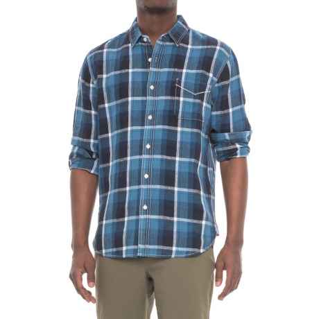 True Grit Big Plaids Shirt - Long Sleeve (For Men) in Indigo