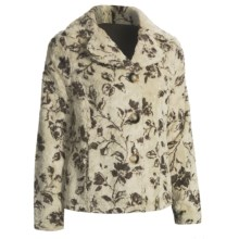 True Grit Bohemian Floral Jacket - Faux Shearling (For Women) in Winter White - Closeouts