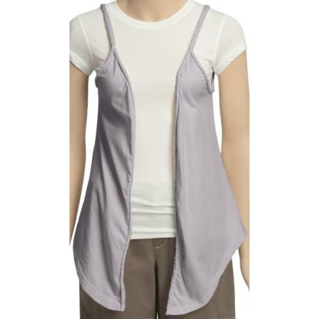 True Grit Braided Flower Vest (For Women) in Shell