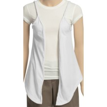 True Grit Braided Flower Vest (For Women) in White - Closeouts