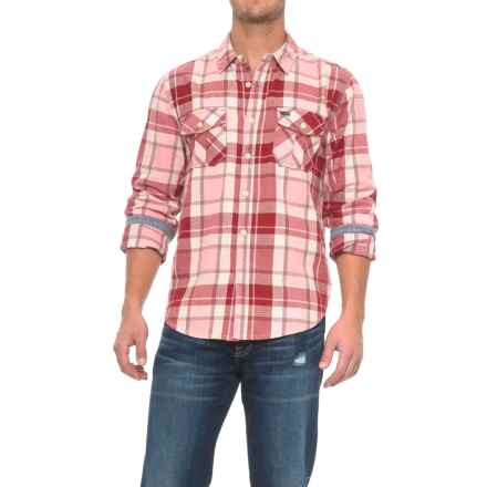 True Grit Brushed Blanket Plaid Shirt - Long Sleeve (For Men) in Vintage Red - Closeouts