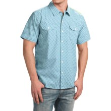 True Grit Brushed Cotton Shirt - Short Sleeve (For Men) in Sea Blue - Closeouts