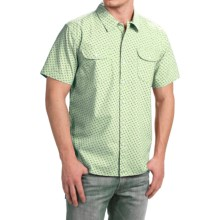 True Grit Brushed Cotton Shirt - Short Sleeve (For Men) in Sea Mist - Closeouts