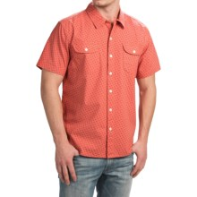 True Grit Brushed Cotton Shirt - Short Sleeve (For Men) in Washed Red - Closeouts