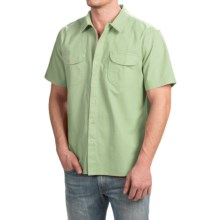 True Grit Brushed Cotton Solid Shirt - Short Sleeve (For Men) in Sea Mist - Closeouts